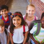 Photo of happy students