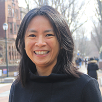 Hanh La on Locust Walk