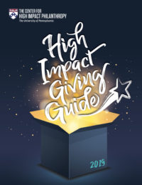 Center for High Impact Philanthropy High Impact Giving Guide