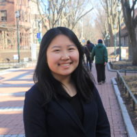Patricia Jia on Locust Walk