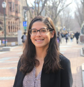 Melissa Ortiz on Locust Walk