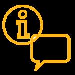 dialogue and information symbols