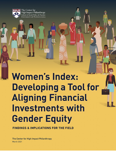Women's Index: Developing a Tool for Aligning Financial Investments with Gender Equity