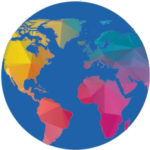 Rainbow colored Globe icon