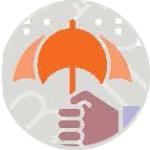 umbrella and hand drawing