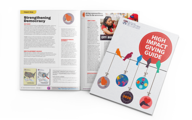 High Impact Giving Guide 2020 Cover and Inside Spread