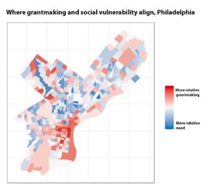 Where grantmaking and social vulnerabilty align, Philadelphia